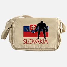Slovakia Flag Hockey Messenger Bag