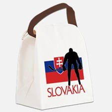 Slovakia Flag Hockey Canvas Lunch Bag