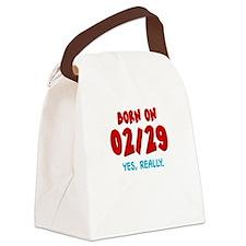 Born On 02/29 Canvas Lunch Bag