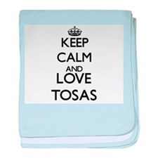 Keep calm and love Tosas baby blanket