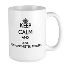 Keep calm and love Toy Manchester Terriers Mugs