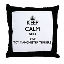 Keep calm and love Toy Manchester Ter Throw Pillow