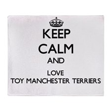 Keep calm and love Toy Manchester Te Throw Blanket