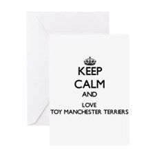 Keep calm and love Toy Manchester T Greeting Cards