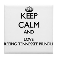 Keep calm and love Treeing Tennessee Tile Coaster