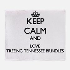 Keep calm and love Treeing Tennessee Throw Blanket