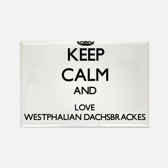 Keep calm and love Westphalian Dachsbracke Magnets
