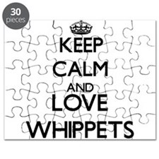 Keep calm and love Whippets Puzzle