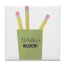Writer's Block! Tile Coaster