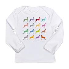 Multi-Great Danes Long Sleeve T-Shirt