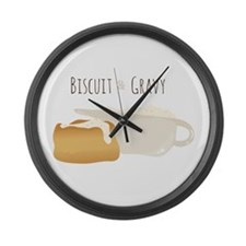 Biscuit & Gravy Large Wall Clock