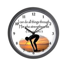 SWIMMER BLESSING Wall Clock