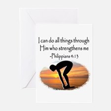 SWIMMER BLESSING Greeting Cards (Pk of 10)