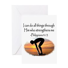 SWIMMER BLESSING Greeting Card