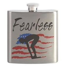 FEARLESS SWIMMER Flask