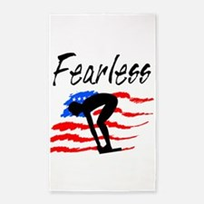 FEARLESS SWIMMER 3'x5' Area Rug