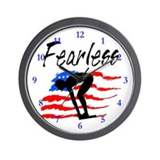 FEARLESS SWIMMER Wall Clock