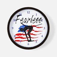 FEARLESS SWIMMER Wall Clock