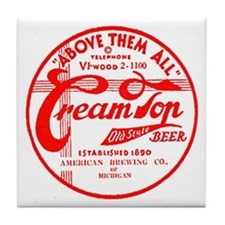 Cream Top Beer-1936 Tile Coaster