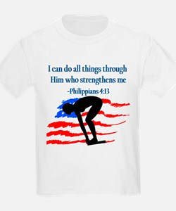 CHRISTIAN SWIMMER T-Shirt