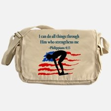 CHRISTIAN SWIMMER Messenger Bag
