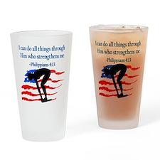 CHRISTIAN SWIMMER Drinking Glass
