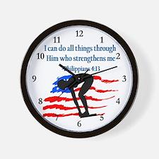 CHRISTIAN SWIMMER Wall Clock