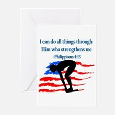 CHRISTIAN SWIMMER Greeting Cards (Pk of 10)