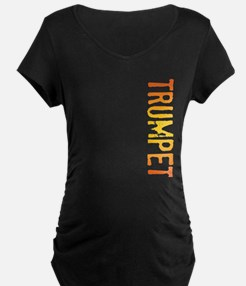 stamp-trumpetB Maternity T-Shirt