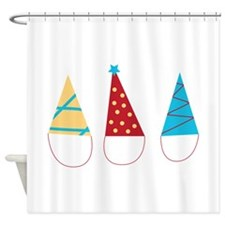 Party Hats Shower Curtain