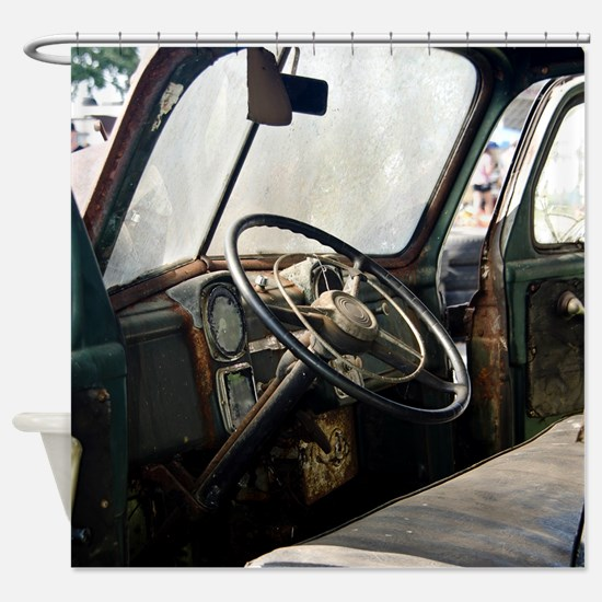 Steering Wheel Shower Curtain