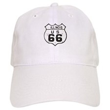Route 66 Old Sign Illinois Baseball Baseball Cap