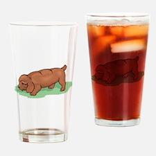 Field Spaniel Puppy Drinking Glass