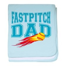 fastpitch-dad.png baby blanket