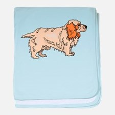 Clumber Spaniel baby blanket
