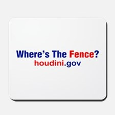 Where's The Fence Mousepad