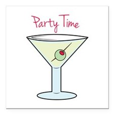 """Party Time Square Car Magnet 3"""" x 3"""""""