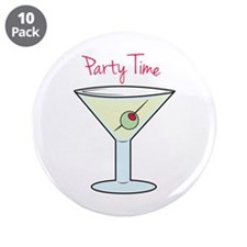 """Party Time 3.5"""" Button (10 pack)"""
