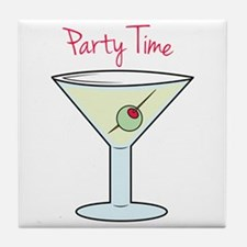 Party Time Tile Coaster