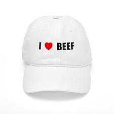 I Love Beef Baseball Cap