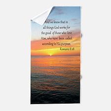 ROMANS 8:28 Beach Towel