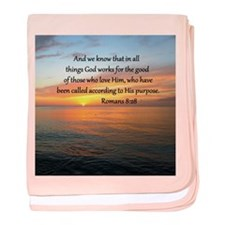 ROMANS 8:28 baby blanket