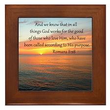 ROMANS 8:28 Framed Tile