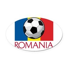 romania-soccer02.png Oval Car Magnet