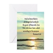 ROMANS 8:28 Greeting Card
