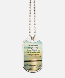 ROMANS 8:28 Dog Tags