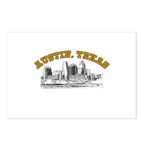 Austin, Texas Postcards (Package of 8)