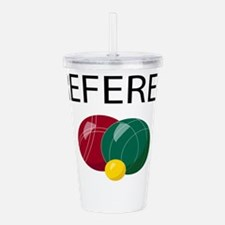 bocce-referee.png Acrylic Double-wall Tumbler