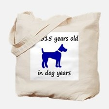 45 dog years blue dog 1C Tote Bag