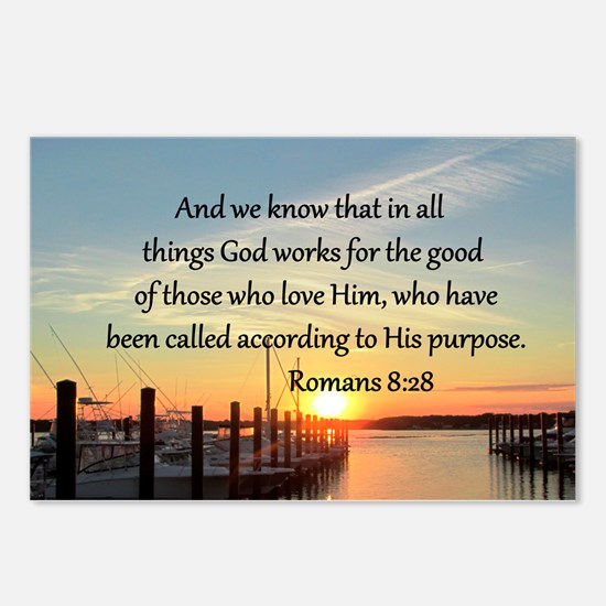 ROMANS 8:28 Postcards (Package of 8)